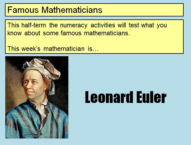 famous mathematician